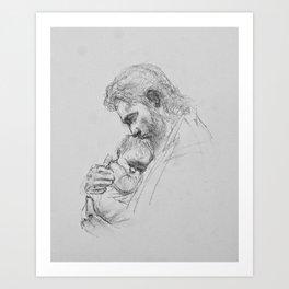 Christ and Infant Art Print