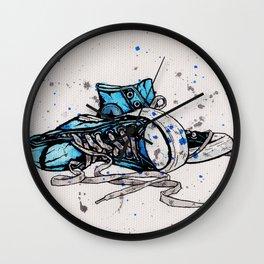 Blue Chucks Wall Clock