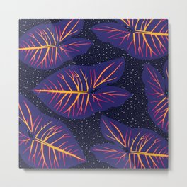 Space alocasia Metal Print