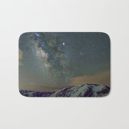 Watercolor Nightscape Milky Way Ute Trail, Rocky Mountain National Park, CO Bath Mat