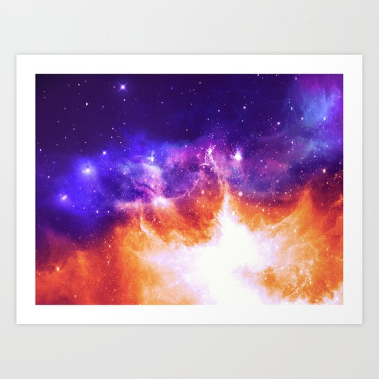 Stars & Flames Art Print