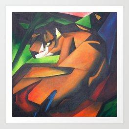 Tiger After Franz Marc Art Print