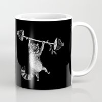 fitness Mugs featuring RaccoonBear Fitness by Brooke Duckart