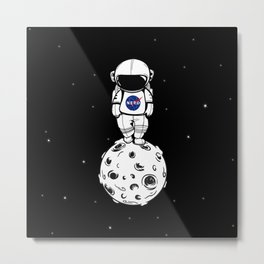 rolling in space Metal Print