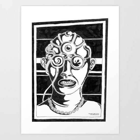 Mr. K - Mugshot Art Print
