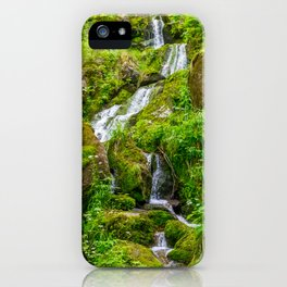 Small creek waterfall in the woods iPhone Case