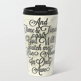 Rise Above (Black) Travel Mug