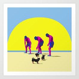 Haciendo amigos Art Print