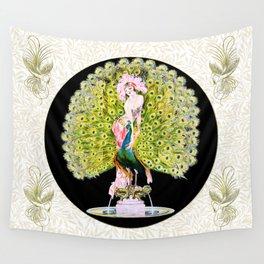 Art Deco Diva Rivalry Wall Tapestry