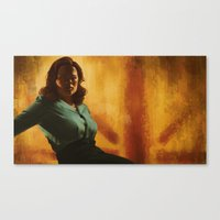agent carter Canvas Prints featuring Agent Carter by Celina Hulshof