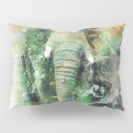 Watercolor Elephant Pillow Sham