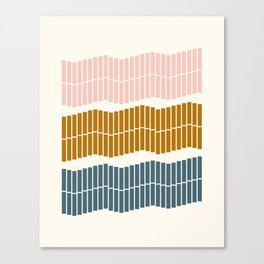 Geometric Piano Keys Canvas Print