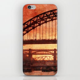 Tyne Bridge At Sunset iPhone Skin