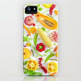 Fruits and vegetables pattern (12) iPhone Case