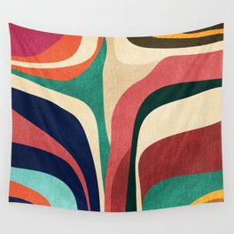 Impossible contour map Wall Tapestry