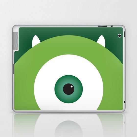 PIXAR CHARACTER POSTER - Mike Wazowski - Monsters, Inc. Laptop & iPad Skin