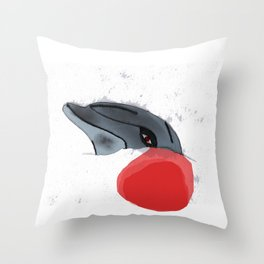 Japan, Stop Dolphin Slaughter! Throw Pillow
