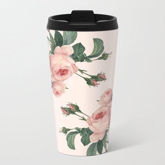 Butterflies in the Rose Garden Metal Travel Mug