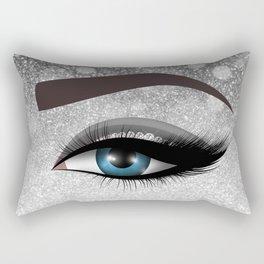 Glam diamond lashes eye #1 Rectangular Pillow