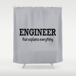 Future Engineer Shower Curtain