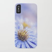 biology iPhone & iPod Cases featuring Blue Aster in LOVE  by UtArt