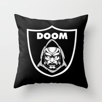 doom Throw Pillows featuring Doom by Buby87