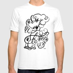 The Doodle Family Mens Fitted Tee White SMALL