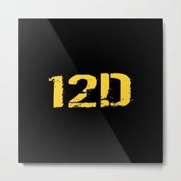 12D Diver Metal Print