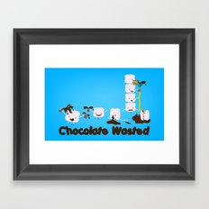 Chocolate Wasted (blue) Framed Art Print