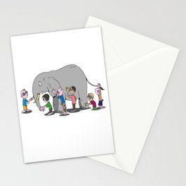 Blind Men and an Elephant Famous Story Tale Design Stationery Cards