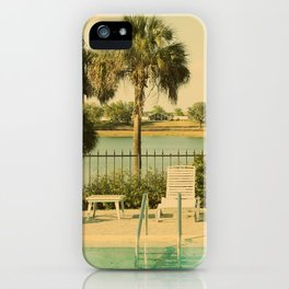 Lolita's Poolside Vacation - Beach Art iPhone Case