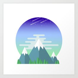 Space Mountains Art Print