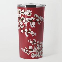 Japanese Sakura Cherry Blossoms (red) Travel Mug