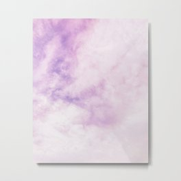 Fuchsia Cloud // Colorful Sunset Pink and Purple Fluffy Ocean Sky Photography Beach Vibes Metal Print