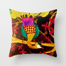 sous-bois Throw Pillow