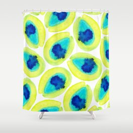 Electric Avocados Shower Curtain
