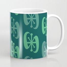 Starburst Bell Peppers Dark Green Coffee Mug
