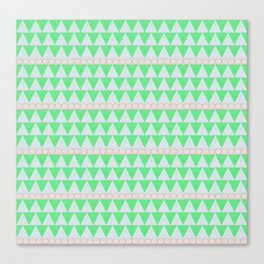 Organic Triangles Canvas Print