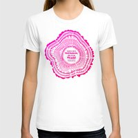literary T-shirts featuring My List – Pink Ombré Ink by Cat Coquillette