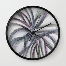 Filigree Motions, Abstract Fractal Art Wall Clock