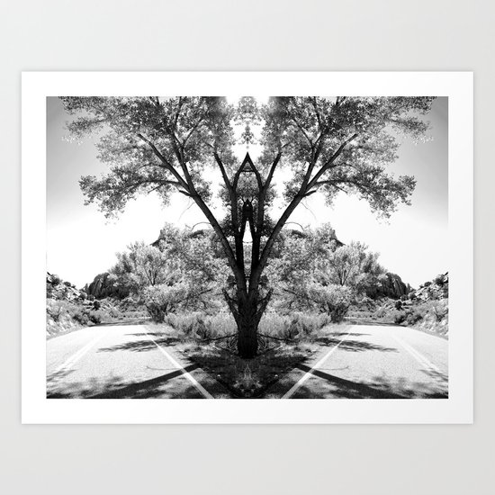 Magical Tree in the Road Art Print