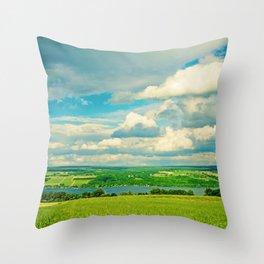 Seneca Lake Wine Road Throw Pillow