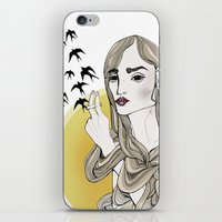 agnes cecile iPhone & iPod Skins featuring Agnes in color by Filippa Ekmark