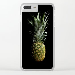Dark Pineapple Clear iPhone Case