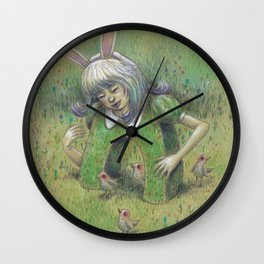 Bunny Girl II:  Making Room for the Good Wall Clock