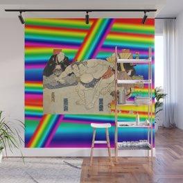 LGBT Sumo Wrestlers. Color Pride. Ukiyoe. Wall Mural