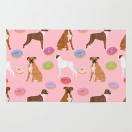 Boxer donuts cute gifts for pure breed dog lover Boxers dog owners Rug