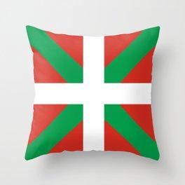 Basque Country: Euskaldun Flag Throw Pillow