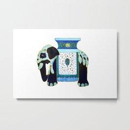 Bombay Blue Metal Print