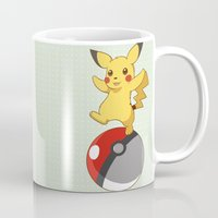 pokeball Mugs featuring Pokeball Go by Nozubozu